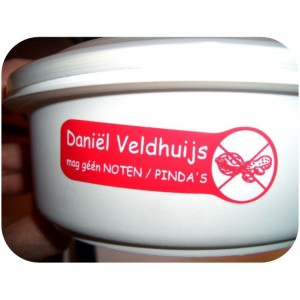 Noten/Pinda-allergie naamlabels
