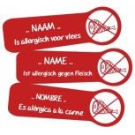 Allergie Naamlabels Vlees