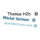 Mini Plak Labels Voetbal Transparant