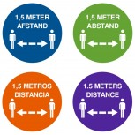 COVID-19 Afstand Sticker - Rond