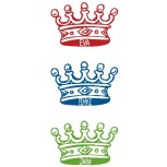 Tiny Crown Labels 18 pcs