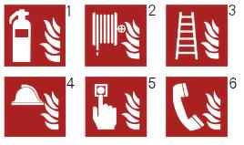 Etiquetas de protección contra incendios