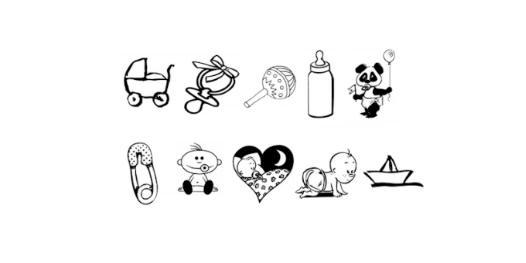 Baby icoontjes Label en Co