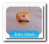 Fraaie en herkenbare babylabels