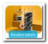 Labels voor in huis huis en de keuken