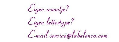 Label en Co Eigen Icoontje - Eigen Lettertype - Eigen Design