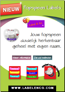 Baby etiketten - fopspeen labels - LABEL & CO