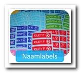 Naamlabels, naamstickers
