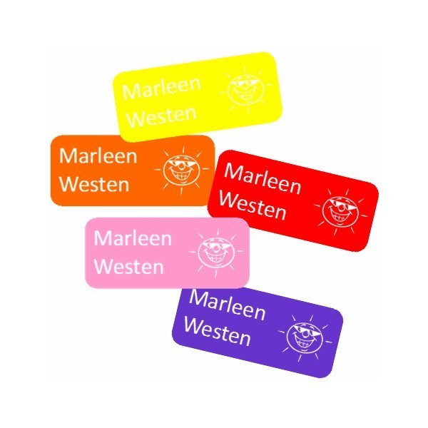 small name labels ton sur ton sticky labels label co. Black Bedroom Furniture Sets. Home Design Ideas
