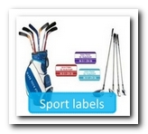 Sportieve plakkers met je eigen naam