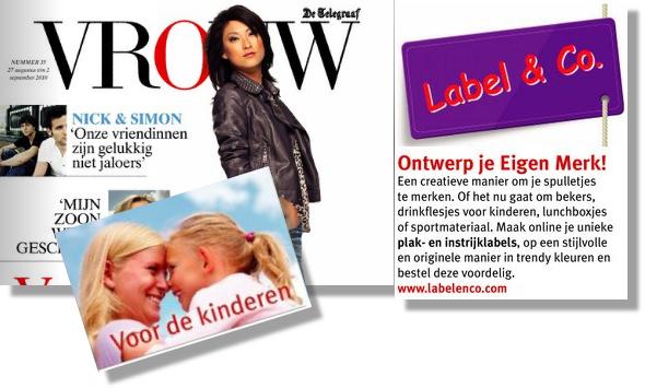Label en Co in de Telegraaf nieuws voor ouders en kinderen - vrouw -